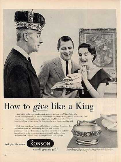 "Ronson Lighter Ad ""How To Give Like... (1954)"