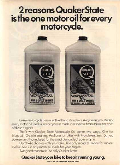 Quaker State&#8217;s 2 Cycle Oil (1974)