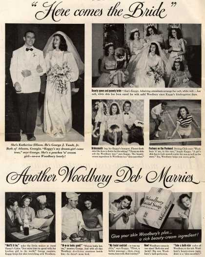 "Woodbury's Facial Soap – ""Here comes the Bride"" Another Woodbury Deb Marries (1949)"