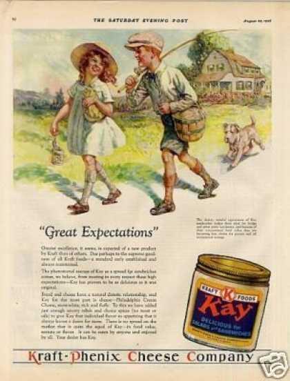 "Kraft Kay Cheese Ad ""Great Expectations... (1928)"