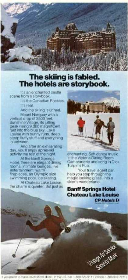 Banff Springs Hotel Chateau Lake Louise (1975)