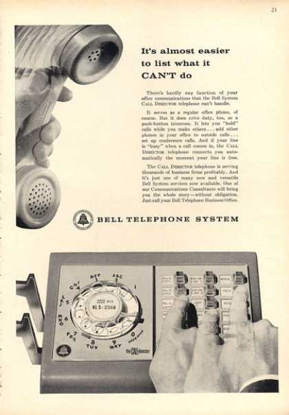 Bell Phone Call Directory Multi Line Telephone (1962)
