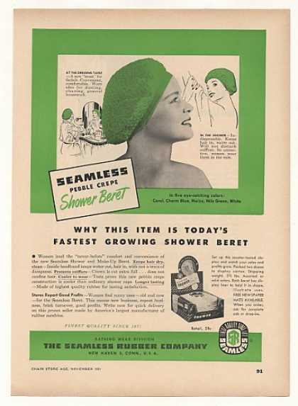 Seamless Rubber Shower Beret (1951)
