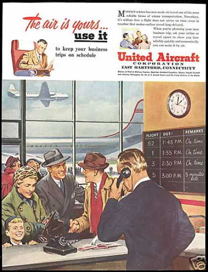 United Aircraft Corporation Airport Art (1950)