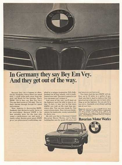 BMW In Germany They Say Bey Em Vey (1969)