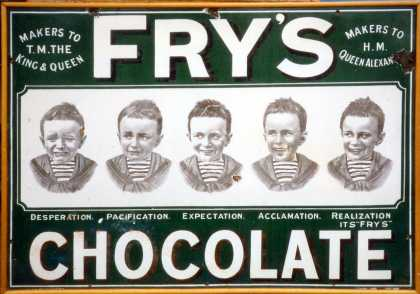 Fry's Five Boys Chocolate Sign – Green