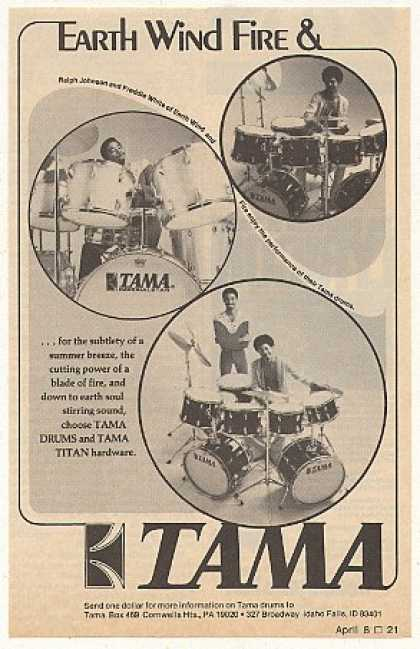 Earth Wind & Fire Tama Drums Photo (1976)