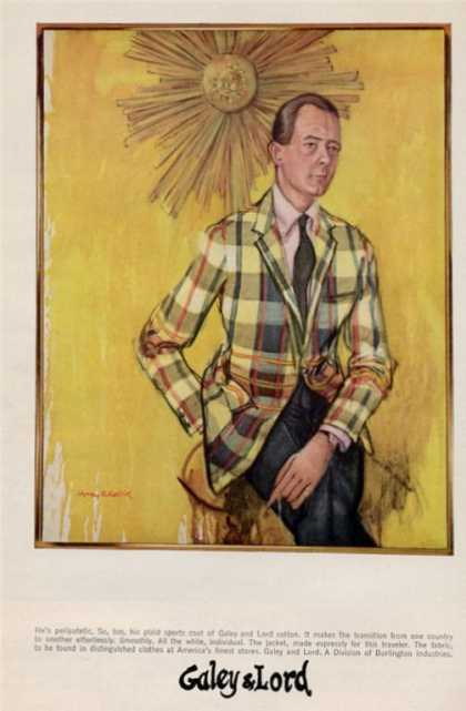 Galey & Lord Plaid Sport Coat Fashion (1965)