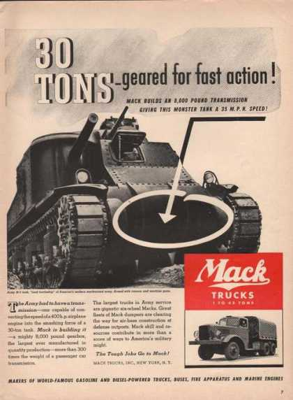 Mack Truck Fast Action (1941)