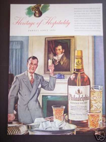 Original Philadelphia Whisky Bar Art Decor (1942)
