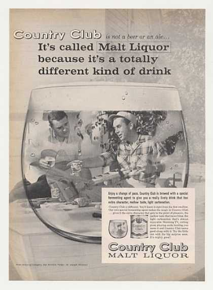 Country Club Malt Liquor Men Build Photo (1963)