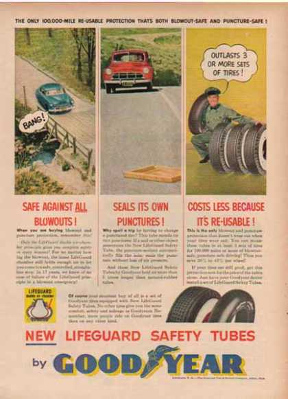 Goodyear – Lifeguard Safety Tubes (1952)