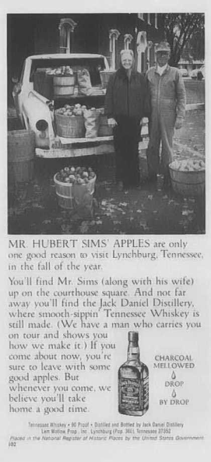 Jack Daniel's – Mr. Hubert Sims Apples... (1977)