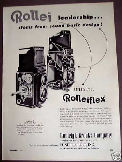 Original Automatic Rolleiflex Camera (1951)