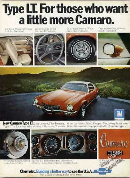 Chevrolet Camaro Type Lt Luxury/touring (1973)