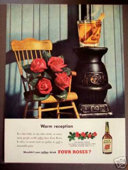Four Roses Whisky Wood Stove (1950)