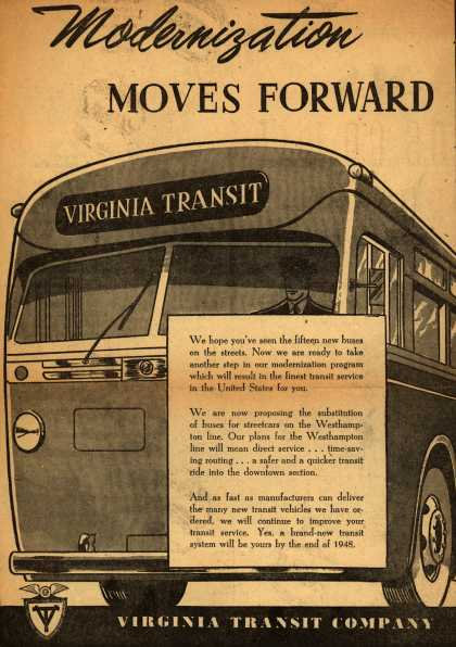 Virginia Transit Company – Modernization Moves Forward (1946)