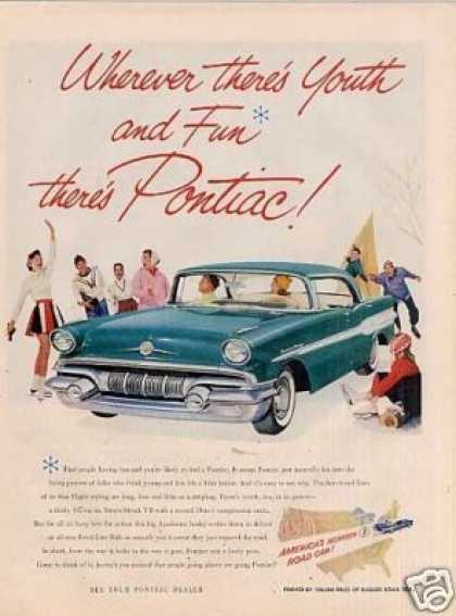 "Pontiac Car Ad ""Wherever There's Youth... (1957)"