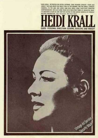 Heidi Krall Collectible Opera Trade (1963)