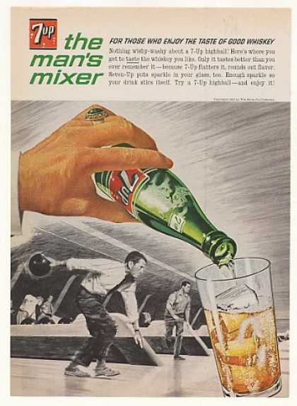7-Up The Man's Mixer Whiskey Highball Bowling (1963)