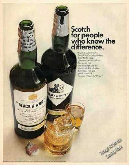 Black & White Scotch Nice Large Color (1967)
