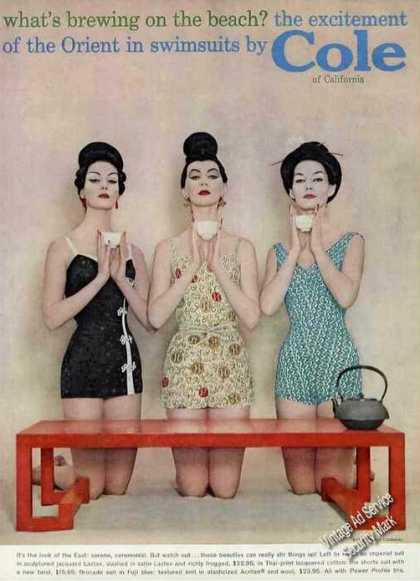 Excitement of the Orient Swimsuits By Cole (1958)