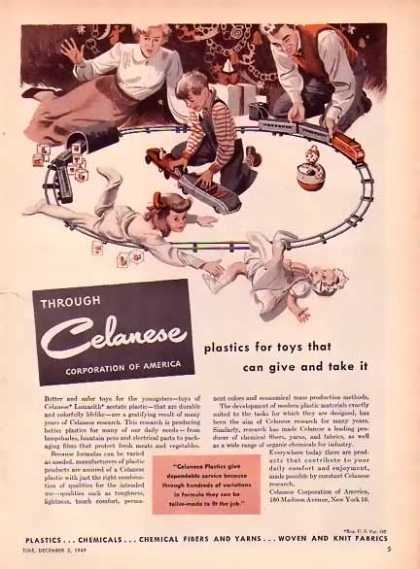Celanese Christmas – Plastics for toys… (1949)