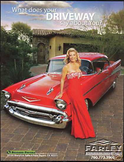 Driveway Pavers 1957 Chevrolet Bel Air Photo (2008)