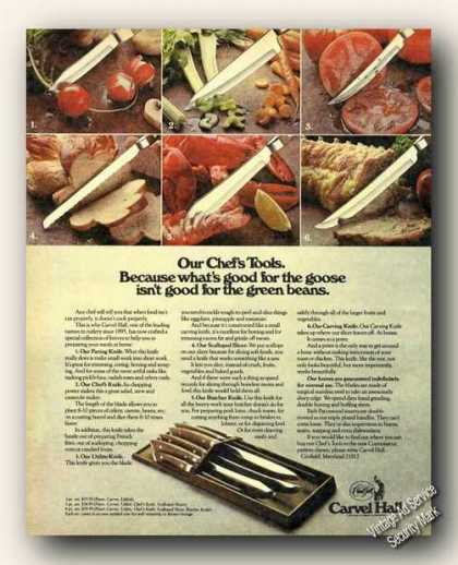 Carvel Hall Knives Collectible Photo (1973)