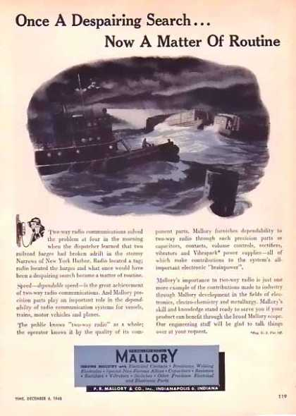 Mallory & Company – Two-way radio Communications (1948)