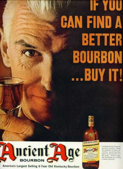 Ancient Age Bourbon Whiskey Ad Very Handsome Man (1963)