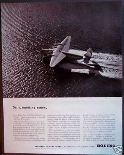 Boeing Aircraft Flying Fortress Plane (1942)