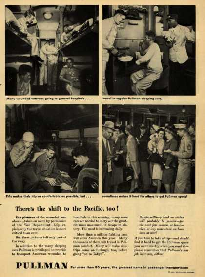 Pullman Company – There's the shift to the Pacific, too (1945)