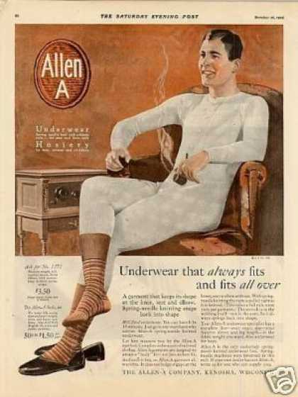Allen a Underwear Color (1926)