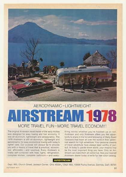 Airstream Travel Trailer More Fun Economy Photo (1978)