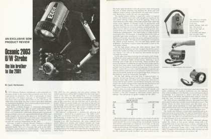 Oceanic 2003 Uw Strobe Diving Light Product Review (1976)