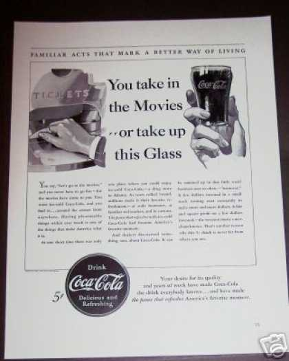 Coca Cola Glass Black & White Coke (1940)