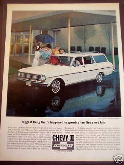 Family & New Baby Chevrolet Ii Classic Car (1963)