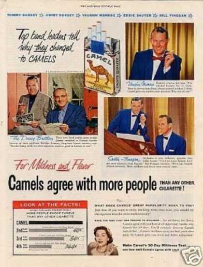 Camel Cigarettes Ad Band Leaders (1953)