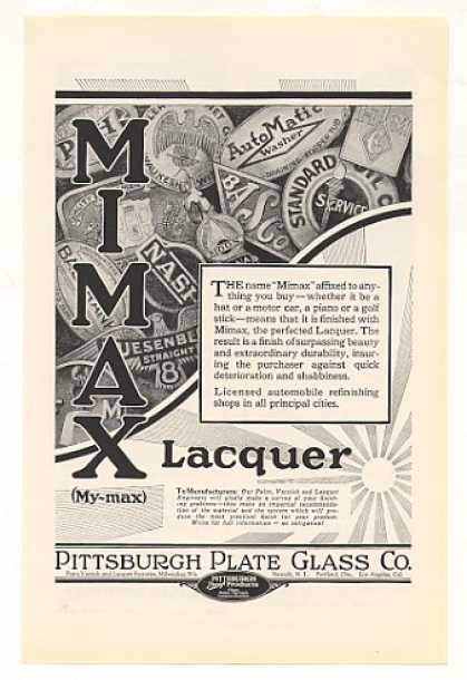 Mimax Lacquer Pittsburgh Plate Glass Co (1928)