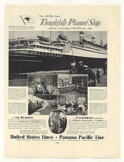 United States Lines SS Washington Ship Photo (1937)