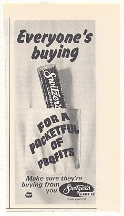 Switzer's Licorice Pocketful Profits Vend Trade (1968)