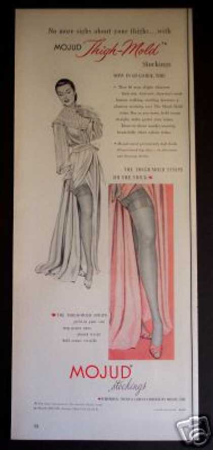 Mojud Thigh-mold Stockings Womans Fashion (1951)
