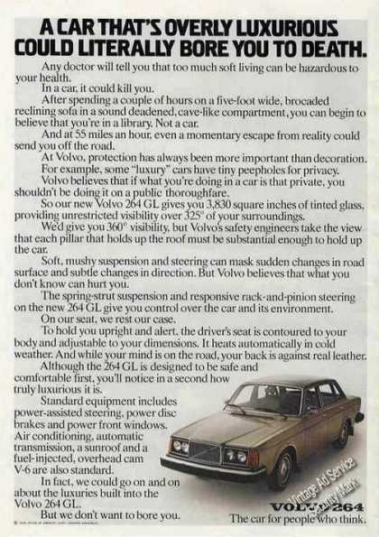 Volvo 264gl Overly Luxurious Could Kill You (1976)