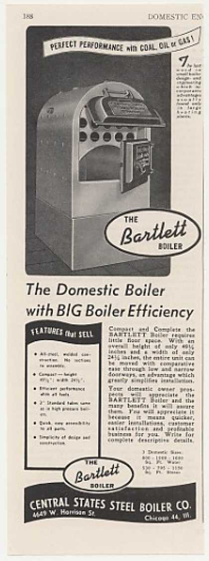 Central States Steel Bartlett Boiler Trade (1947)