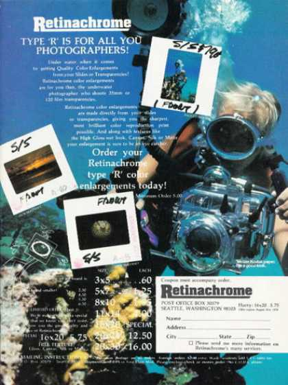Retinachrome Type R Underwater Film Ad T (1978)