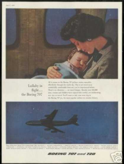 Boeing 707 Jetliner Airplane Mother Child (1959)
