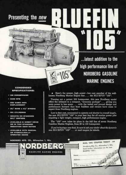 Nordberg Gasoline Marine Engines Bluefin 105 (1956)
