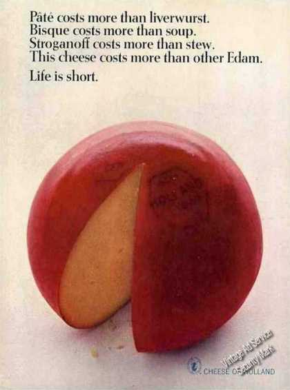 Edam Cheese From Holland Costs More Nice Photo (1963)