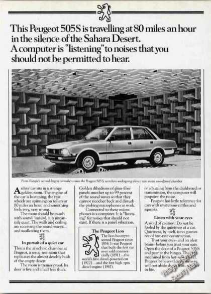 Peugeot 505s In Soundproof Chamber Rare (1983)
